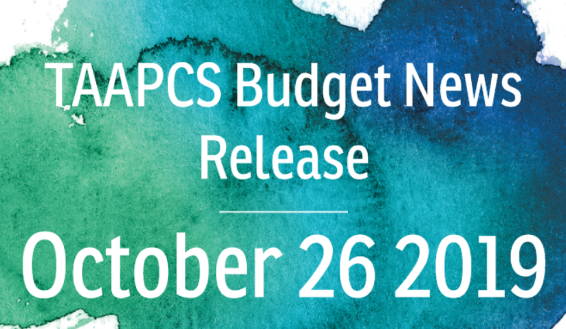 TAAPCS Budget News Release – 20191026